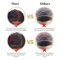 This picture shows that our wigs has advantages comparing with other wigs .