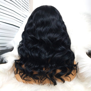 COLODO Front Lace Wigs Short Wave Human Hair Wigs Nature Color For Black Women