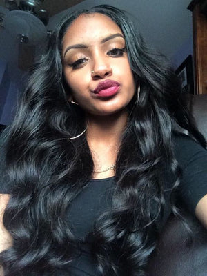 COLODO Lace Front Wigs Human Virgin Brazilian Hair Natural Body Wave ZY-5