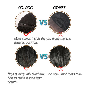 The advantage of our wigs compared to other wigs .