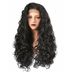 This is a Synthetic Long Curly Lace Front Wigs.