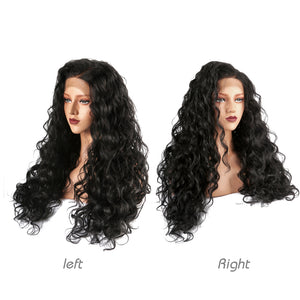 This is a photo of the left and right sides of the wig .