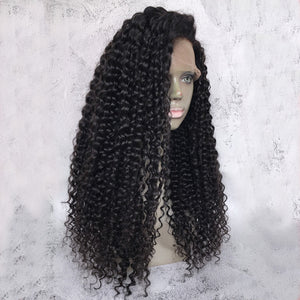 "Promotion ""The Caribbean"" Deep Wave Human Hair Front Lace Wigs [HW028]"