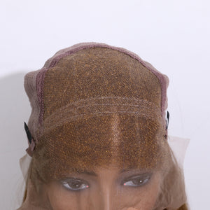 COLODO Gradual Brown-Yellow 13x6 Lace Front Straight Wig for Women
