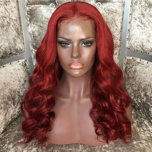 """ALEX"" Red Lace Front Wig 180% Density [HW030]"