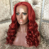 """ALEX"" Red Lace Front Wig 200% Density [HW030]"