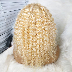 COLODO 100% 13x6Virgin Brazilian Hair 613 Curly Lace Front Wigs For Black Women