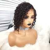 COLODO Virgin Human Hair Curly 13x6 Lace Front Wigs For Black Women Nature Color