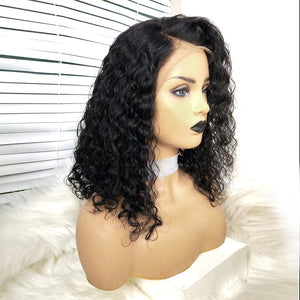 COLODO Virgin Human Hair Lace Wigs Short Nature Curly For Black Women
