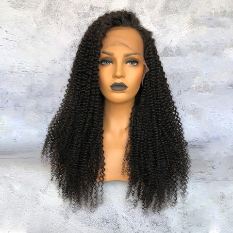 """Cathy"" Kinky Curly Lace Wigs Indian Virgin Hair [HW027]"