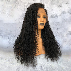 """Cathy"" Deep Curly Lace Wigs Indian Virgin Hair [HW027]"