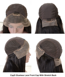 This is a  Glueless Lace Front Cap With Stretch Back.