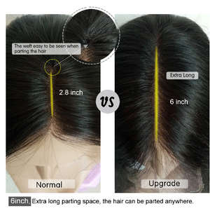 The weft easy to be seen when parting the hair.