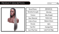 Silver Grey Ombre Braided Box Braids Wig Long Synthetic Lace Front Wigs For Women Black 180% 26 inch Lady's Wig 2 Tones Color