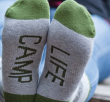 Women's Camp Life Crew Socks - Grey and Green