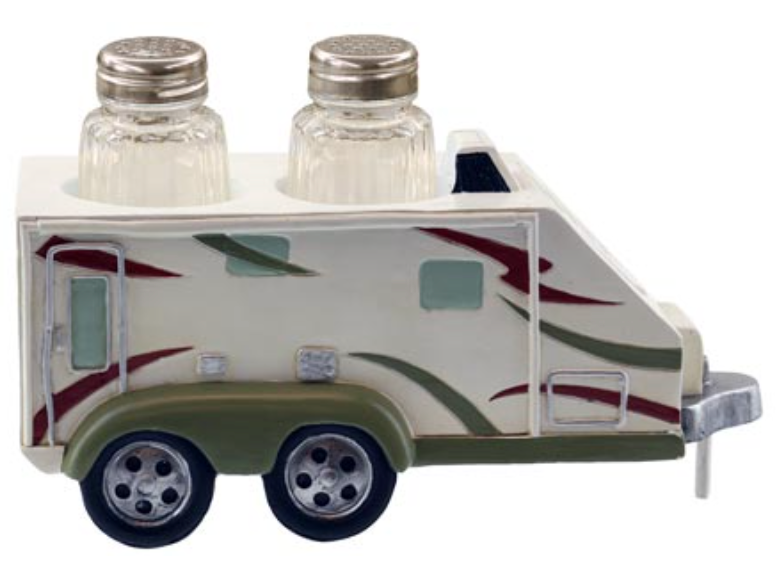 travel trailer RV salt and paper holder with shakers camp kitchen