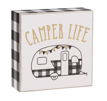 camper life shelf sitter sign