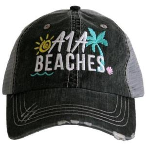 Camping Hat - Trucker Cap A1A Beaches Florida Cap