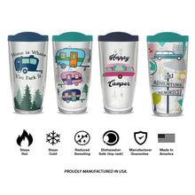 camping acrylic tumbler collection of four designs 16 ounces