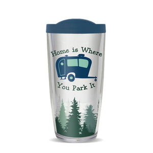 acrylic tumbler home is where you park it 16 ounces