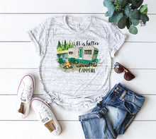 bella canvas camping t-shirt life is better around the campfire
