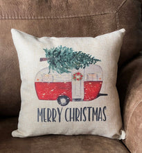 Merry Christmas Camper Pillow
