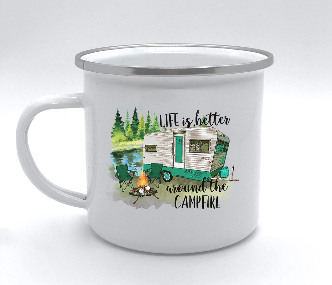 camp cup life is better around the campfire vintage