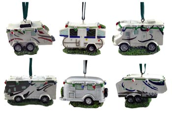 Camper RV Christmas Ornaments