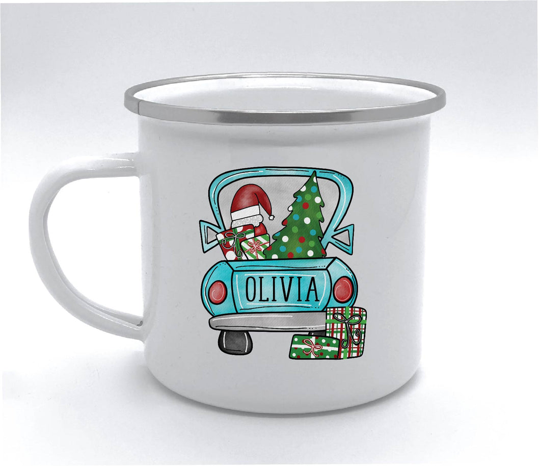 Personalized Christmas Camp Cup - 10 Ounces
