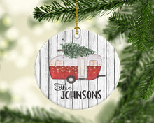 personalized Christmas ornament campers