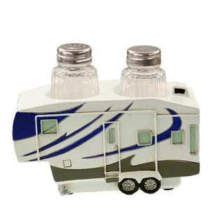 Fifth wheel trailer salt and pepper holder
