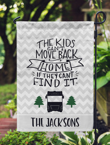 funny camping flag class a kids can't move back home