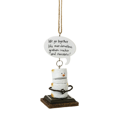 Smores camping Christmas ornament for couples