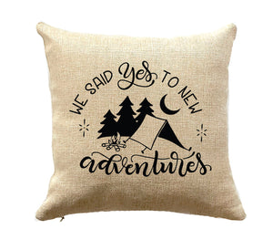 Gift for Tent Camper Decorative Pillow