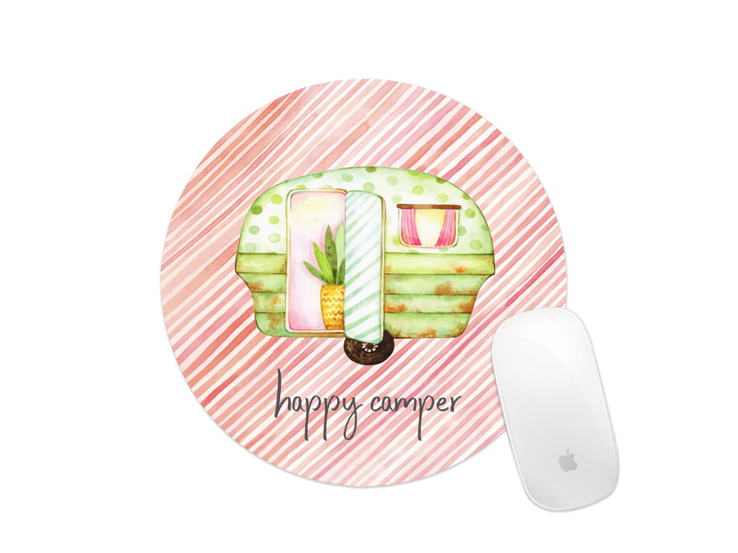 happy camper mouse pad pink