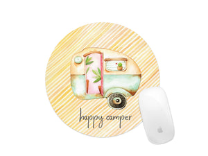 happy camper mouse pad yellow