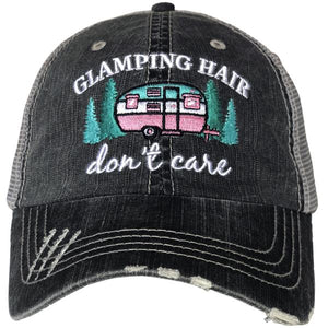 Glamping Hair Don't Care Baseball Cap for Campers