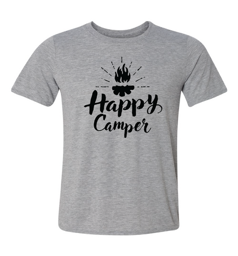 unisex gray tee happy camper