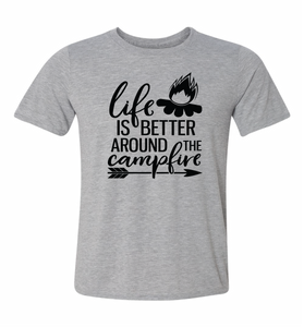 life is better around the campfire camping t-shirt unisex