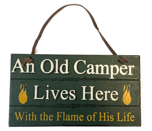 Funny Camping Sign Old Camper Lives Here Couple Gift