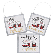 tin Christmas ornaments for campers