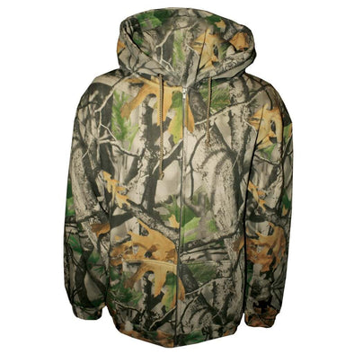 Adult Camo Full-zip Hooded Sweatshirt