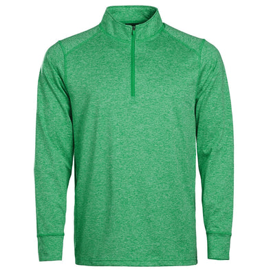 Men's 1/4 Zip Kelly Green Heather In Play Sportswear