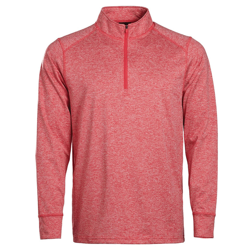 Men's 1/4 Zip Red Heather