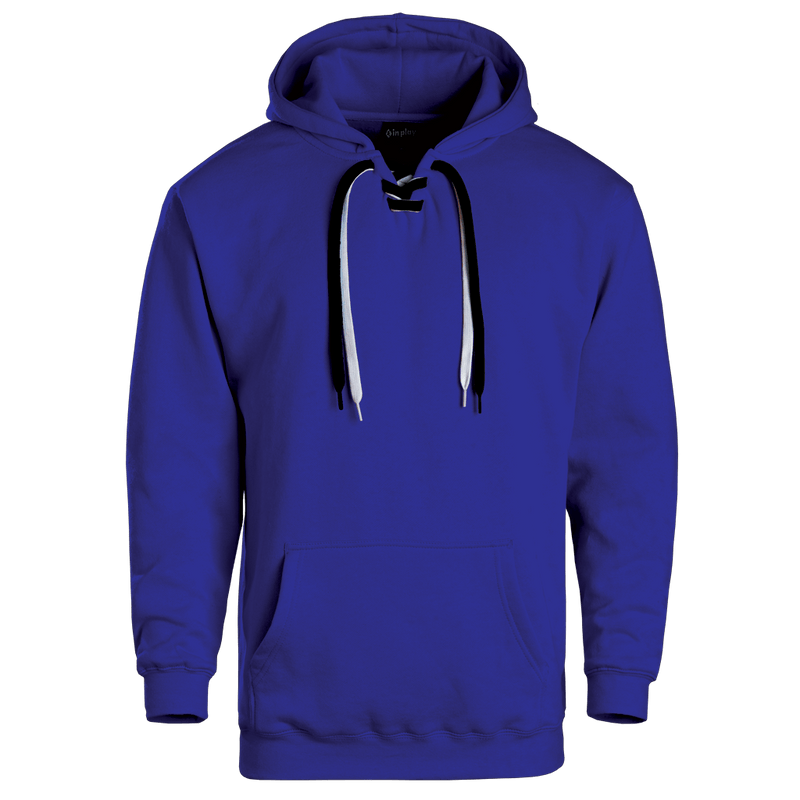 Adult Lace Up Hooded Sweatshirt Royal