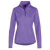 Ladies Heather-toned 1/4 Zips