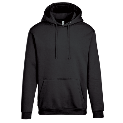Adult Pullover Hood with Hidden Zipper Pocket in Black