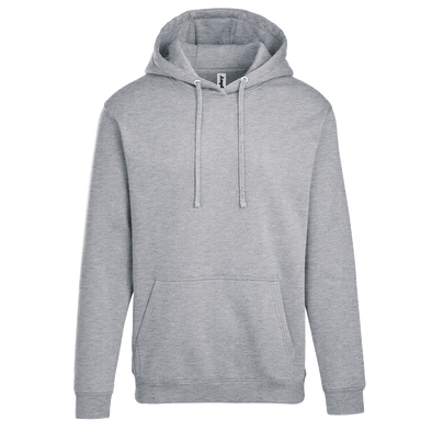 Adult Pullover Hood with Hidden Zipper Pocket in Heather Grey
