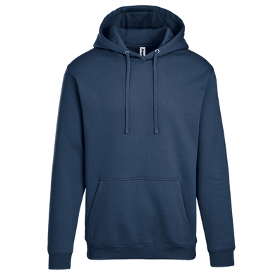 Adult Pullover Hood with Hidden Zipper Pocket in Navy