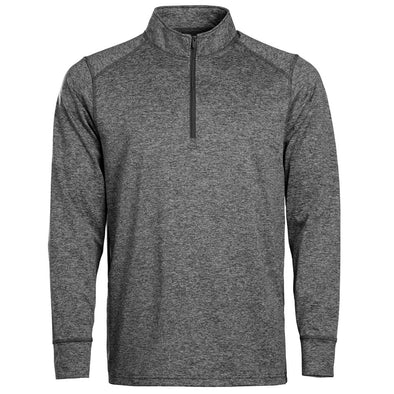 Youth 1/4 Zip Black Heather In Play Sportswear